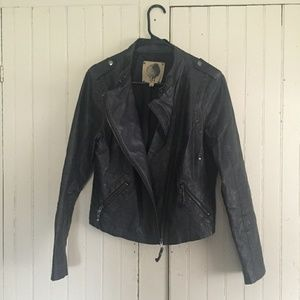 Vegan motorcycle jacket fits M